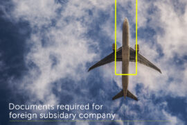 documents required foreign subsidary company